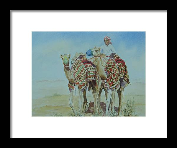 Figure Framed Print featuring the painting Colourful Scene by Maruska Lebrun