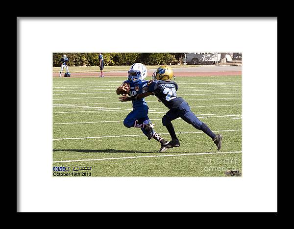 Framed Print featuring the photograph Colts Vs Bruins 7134 by Notah Studios
