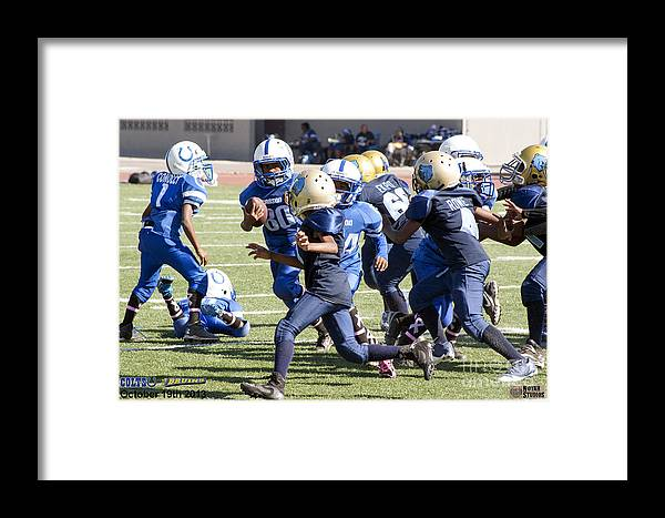 Framed Print featuring the photograph Colts Vs Bruins 7140 by Notah Studios