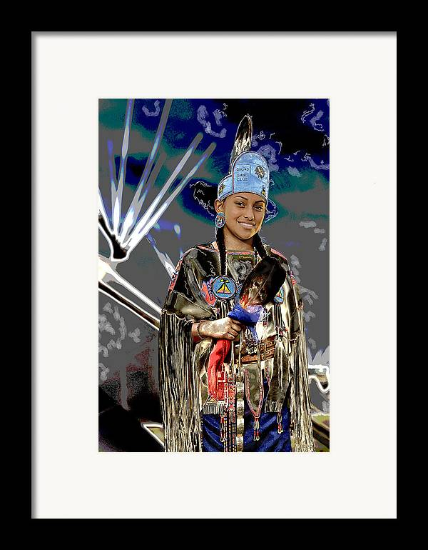 Comanche queen framed print by christian heeb for Christian heeb