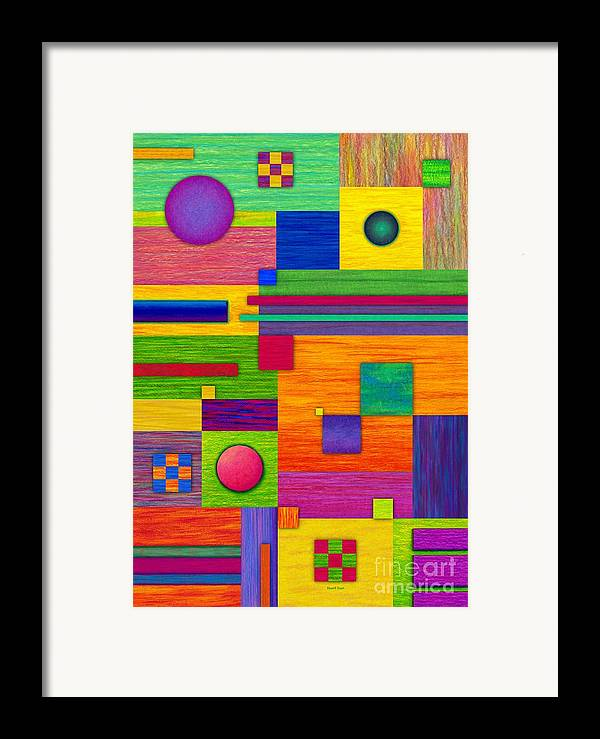 Colored Pencil Framed Print featuring the painting Combination 2 by David K Small