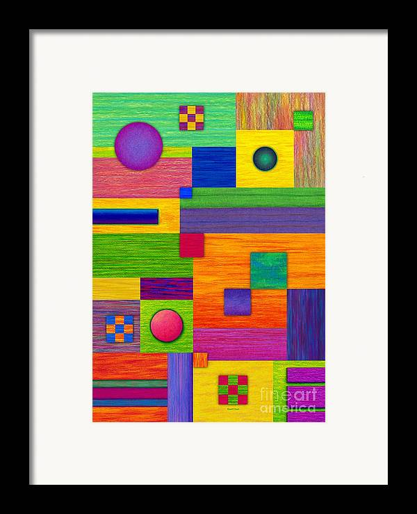 Colored Pencil Framed Print featuring the painting Combination by David K Small
