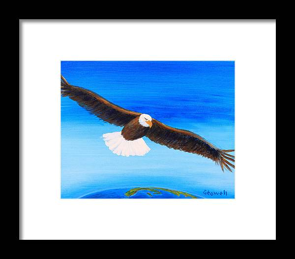 Eagle Framed Print featuring the painting Come Fly With Me by Gary Rowell