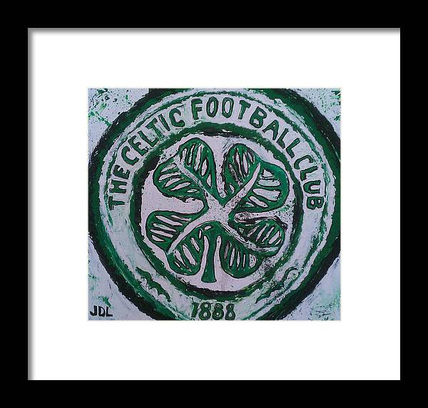 Celtic Framed Print featuring the painting Come On The Hoops by James Layton
