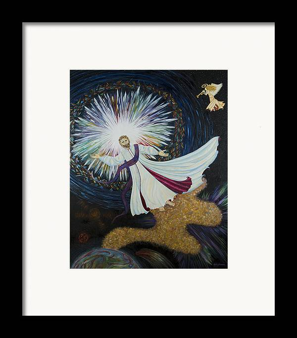 Julia Bowman Framed Print featuring the painting Come With Me by Julia Bowman