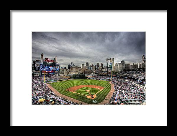 Detroit Tigers Framed Print featuring the photograph Comerica Park Home of the Tigers by Shawn Everhart