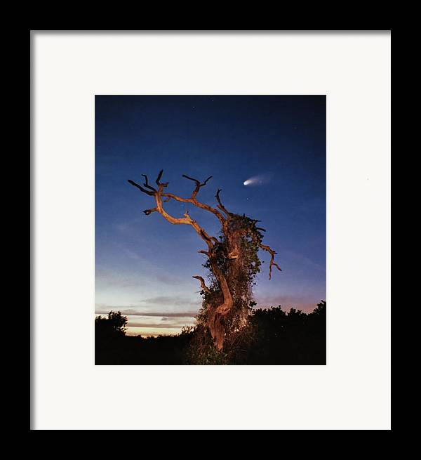 Astrophotography Framed Print featuring the photograph Comet Catcher. Lake Gentry. by Chris Kusik