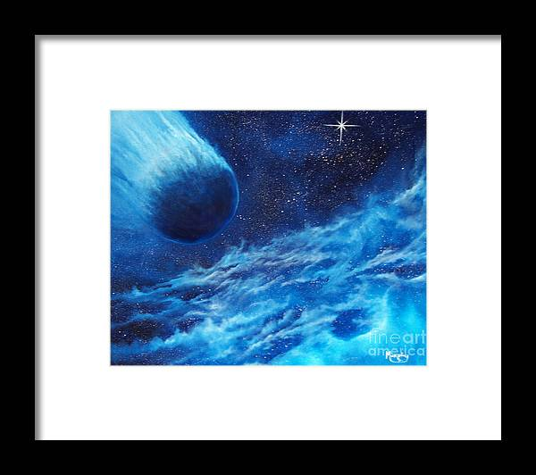 Astro Framed Print featuring the painting Comet Experience by Murphy Elliott