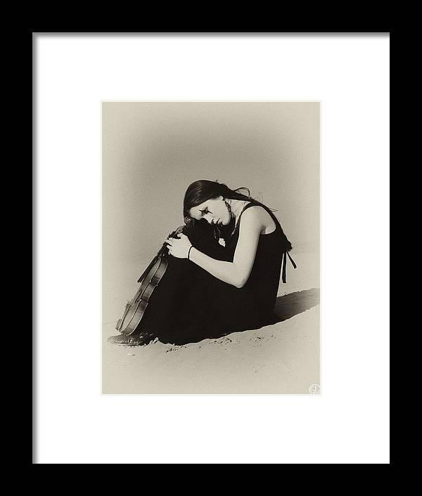Woman Framed Print featuring the digital art Comfort In The Desert by Gun Legler