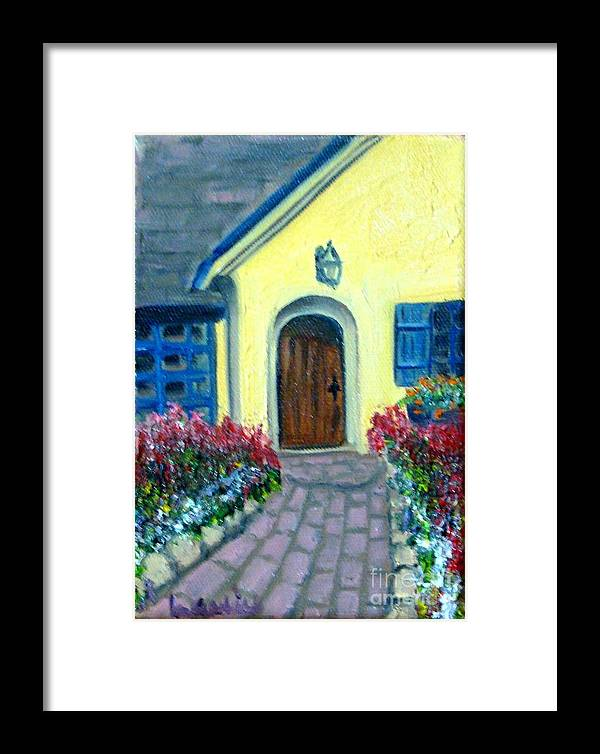 Cottage Framed Print featuring the painting Coming Home by Laurie Morgan