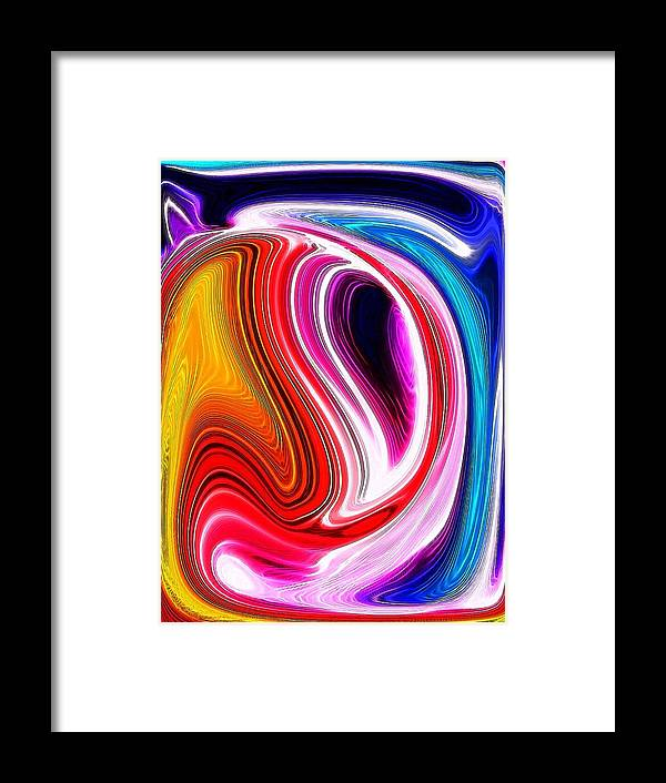 Framed Print featuring the digital art Comma by Bob Riggs