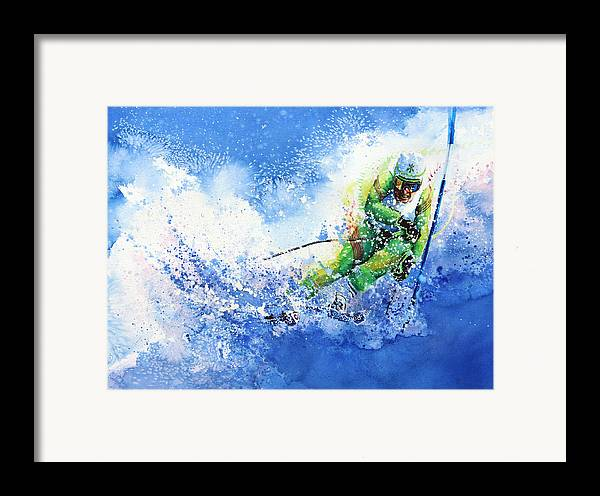 Olympic Sports Framed Print featuring the painting Competitive Edge by Hanne Lore Koehler