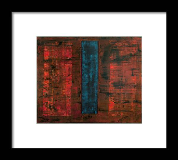 Rectangle Framed Print featuring the painting Complex Simplicity by Rick Cash
