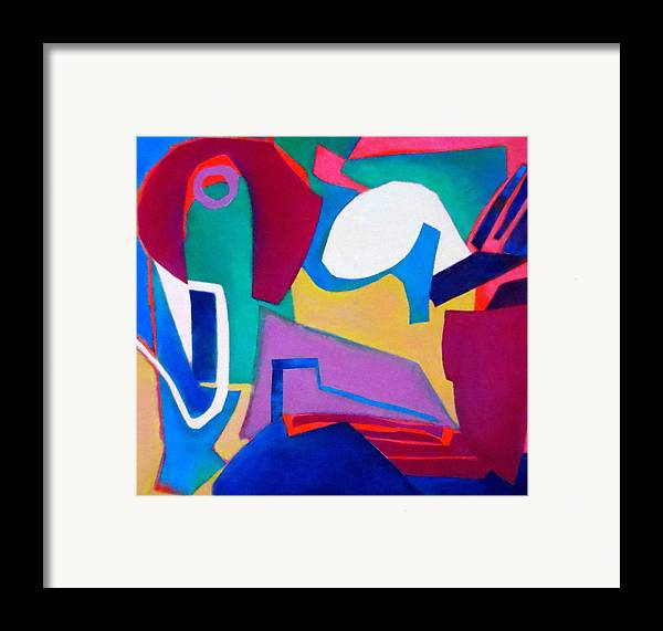 Abstract Expressionism Framed Print featuring the mixed media Composition In See by Diane Fine