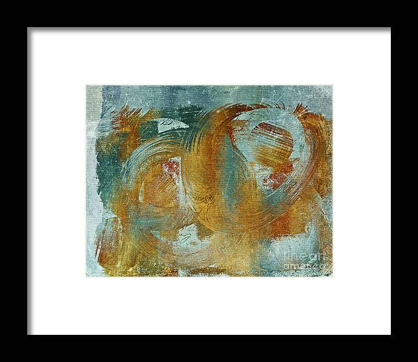 Abstract Framed Print featuring the digital art Composix 02a - V1t27b by Variance Collections