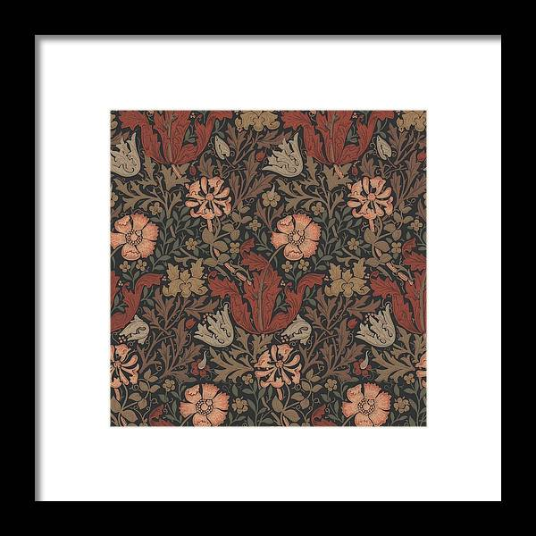 William Framed Print featuring the tapestry - textile Compton Design by Philip Ralley