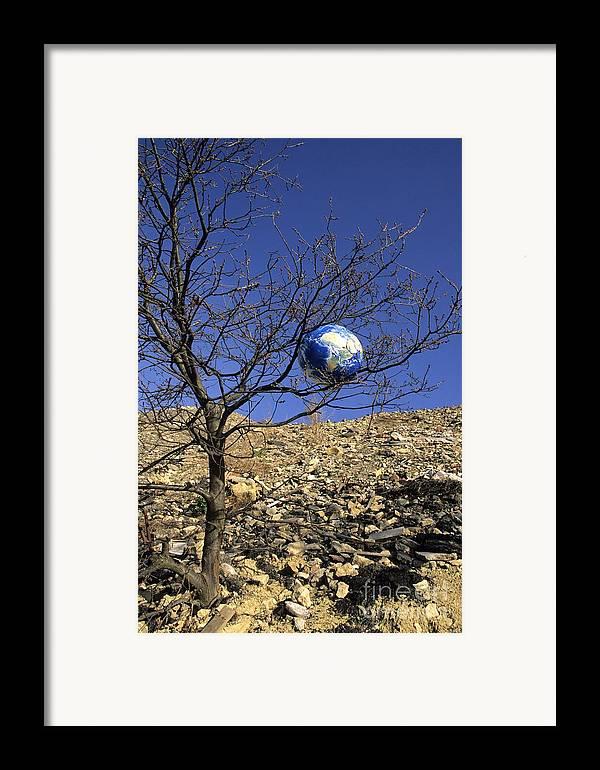 Concept Framed Print featuring the photograph Concept Pollution by Bernard Jaubert
