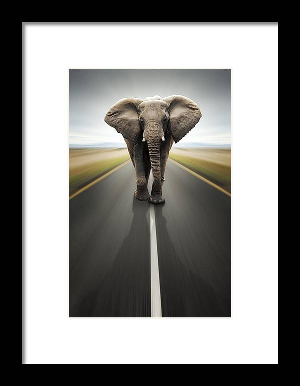 Elephant Framed Print featuring the photograph Heavy Duty Transport / Travel By Road by Johan Swanepoel