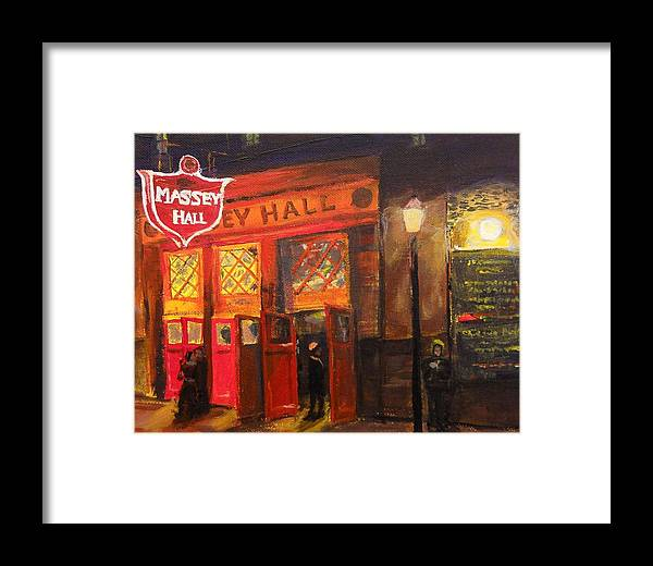 Massey Hall Framed Print featuring the painting Concert Night by Brent Arlitt