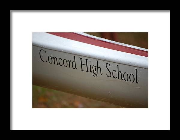 Rowing Framed Print featuring the photograph Concord High School by George Bogosian