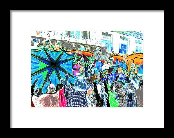 Abstract Framed Print featuring the photograph Conde Cavaliers Cavalier Float by Marian Bell