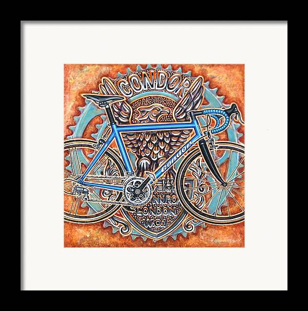 Bicycle Framed Print featuring the painting Condor Baracchi by Mark Jones