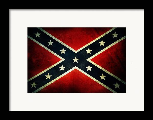 Flag Framed Print featuring the photograph Confederate Flag by Les Cunliffe