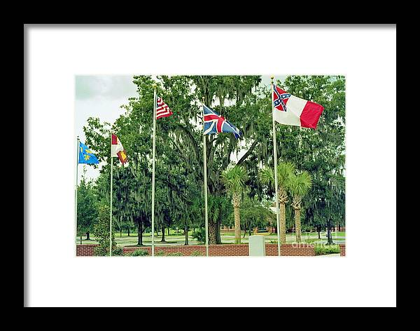 Flag Framed Print featuring the photograph Confederate - Flags Of My Ancestors by Wayne Nielsen