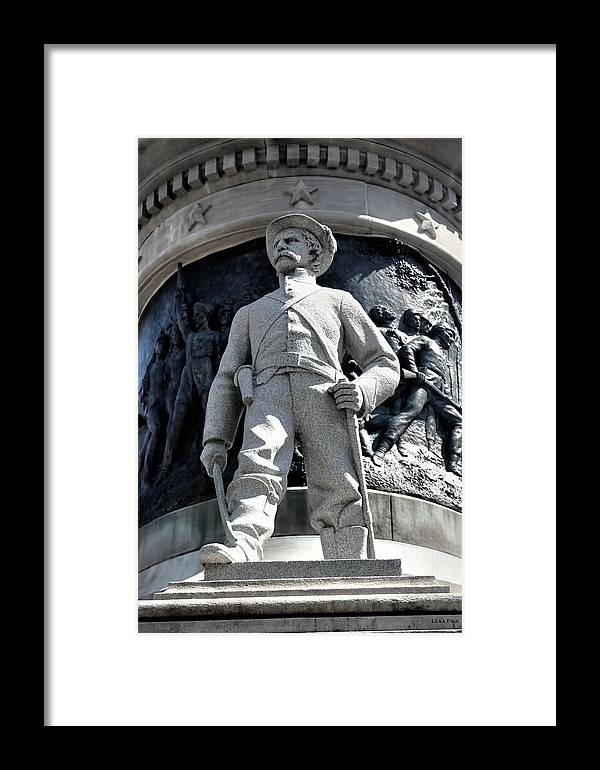 Confederate Framed Print featuring the photograph Confederate Soldier II Alabama State Capitol by Lesa Fine