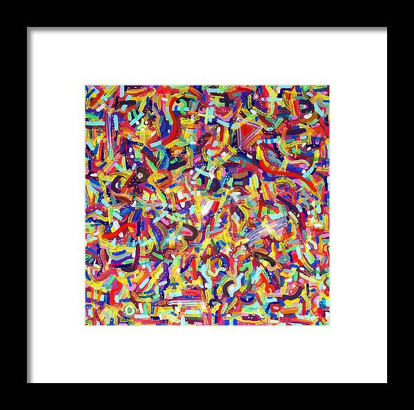 Acrylic Framed Print featuring the painting Confetti by Patrick OLeary