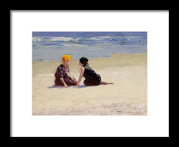 Couple Framed Print featuring the painting Confidences by Edward Henry Potthast