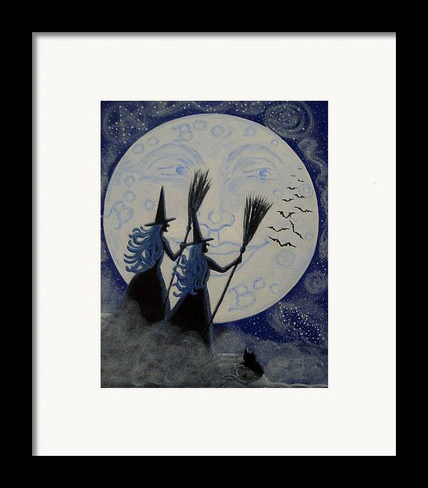 Man Framed Print featuring the painting Conjuring Constellations by Christine Altmann