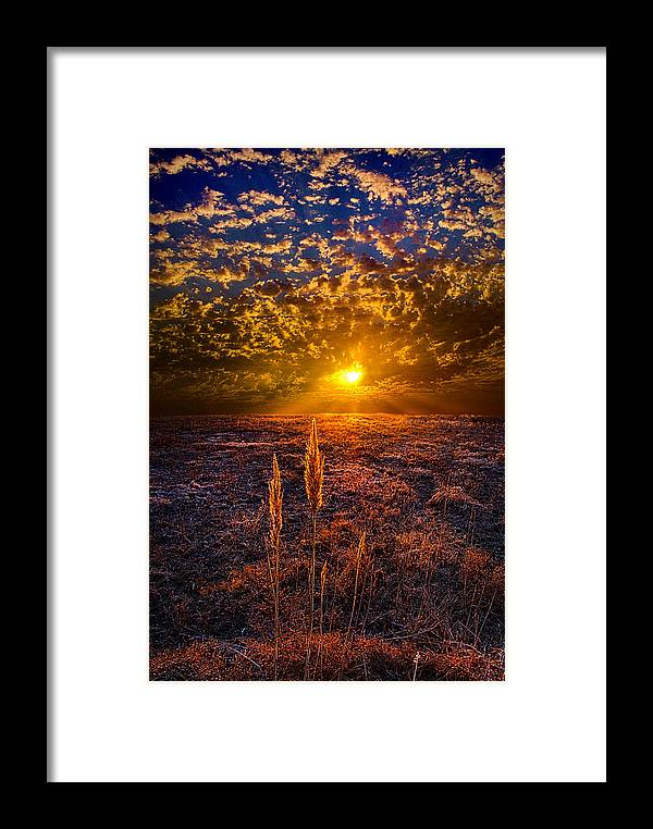 Horizons Framed Print featuring the photograph Connected by Phil Koch