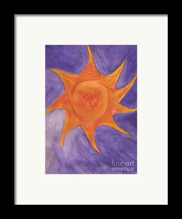 Sun Framed Print featuring the painting Connected by Robert Meszaros