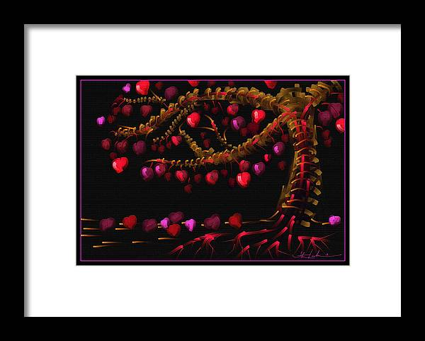 Life Framed Print featuring the painting Connected by Steven Lebron Langston