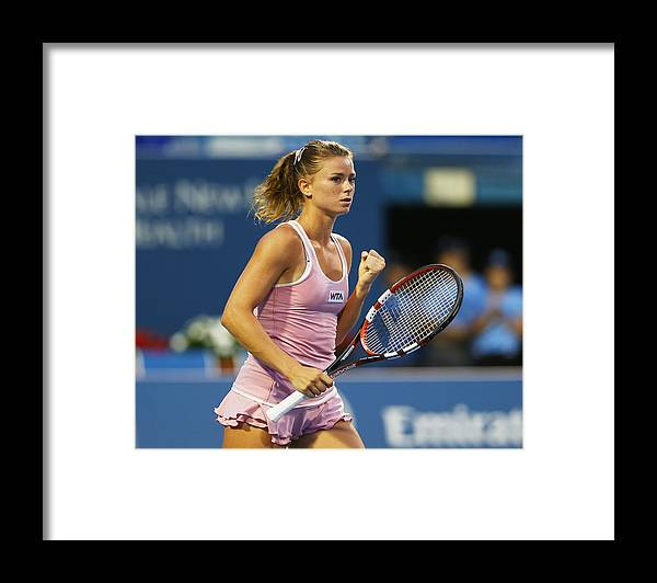Tennis Framed Print featuring the photograph Connecticut Open - Day 5 by Elsa
