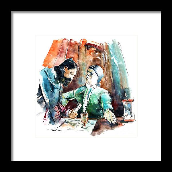 Portugal Framed Print featuring the painting Conquistadores On The Boat In Vila Do Conde In Portugal by Miki De Goodaboom