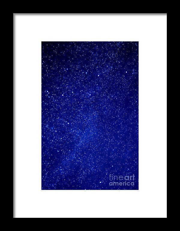 Night Framed Print featuring the photograph Constellation Cassiopeia by Thomas R Fletcher