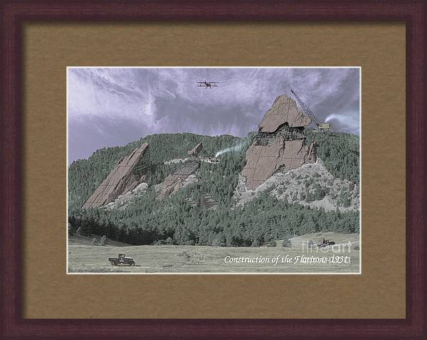 Construction of the Flatirons - 1931 by Jerry McElroy