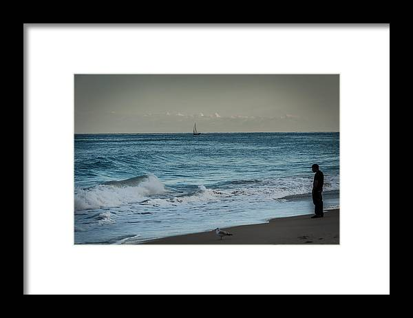 Sea Framed Print featuring the photograph Contemplation by Paul Johnson