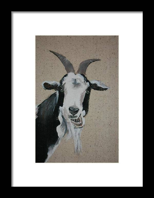 Animals Framed Print featuring the painting Content by Dee Mccluskey