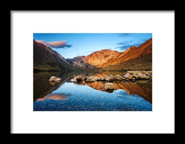 Morning Framed Print featuring the photograph Convict Lake by Pete Piriya
