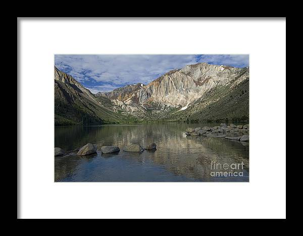 Convict Lake Framed Print featuring the photograph Convict Lake Reflection by Sandra Bronstein