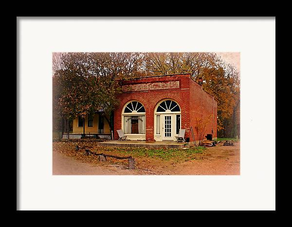 Cook Station Framed Print featuring the photograph Cook Station Bank by Marty Koch