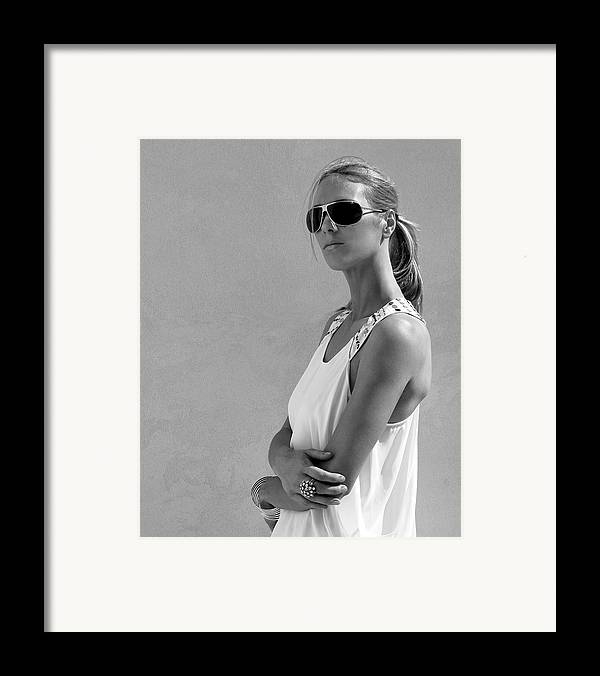 Catherine Framed Print featuring the photograph Cool Catherine Palm Springs by William Dey
