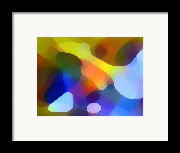 Bold Framed Print featuring the painting Cool Dappled Light by Amy Vangsgard