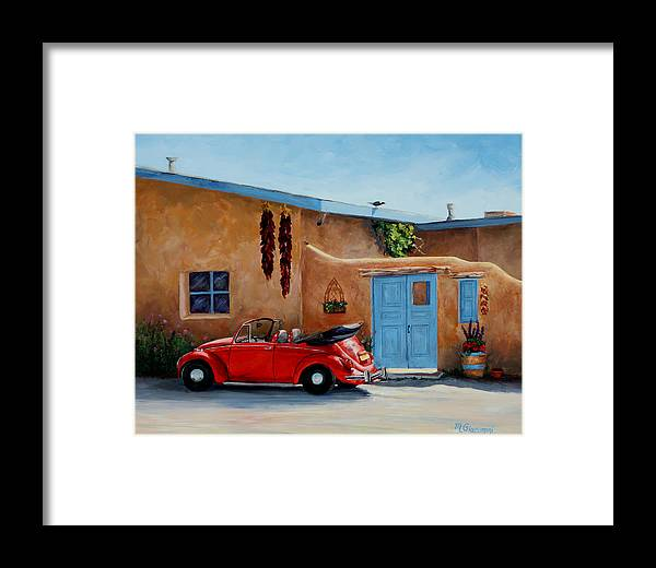 Adobe Framed Print featuring the painting Cool Ride by Mary Giacomini