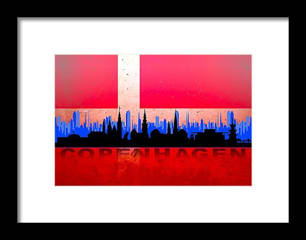 Architecture Framed Print featuring the digital art Copenhagen City by Don Kuing