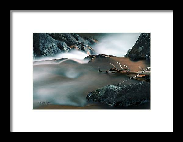Unique Framed Print featuring the photograph Copper Stream 2 by Roger Snyder
