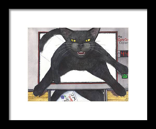Cat Framed Print featuring the painting Copy Cat by Catherine G McElroy